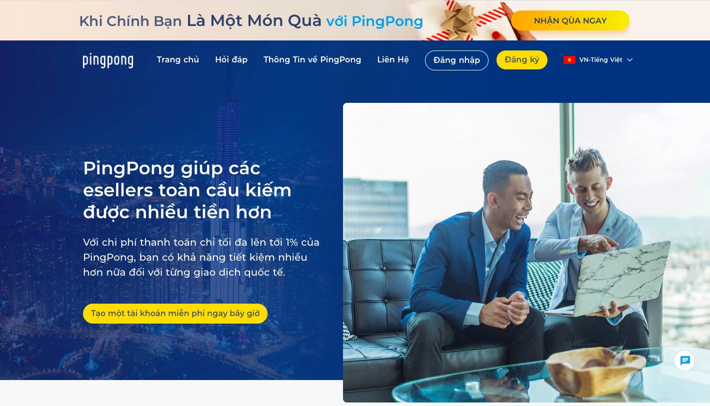 Đăng ký tài khoản Pingpong, xác nhận đơn giản, rút tiền trong 1 nốt nhạc