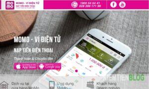 Hình 2. Ví điện tử Momo - app kiếm tiền online nhờ mời bạn bè