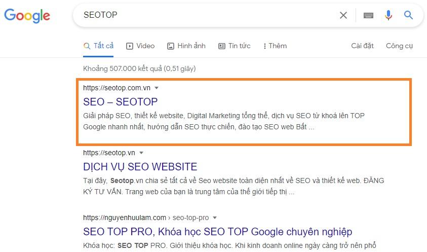 Dich vu SEO website Top Google SEOTOP